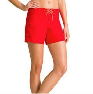 ATHLETA Saffron Red Clearwater 4'' Boardshorts